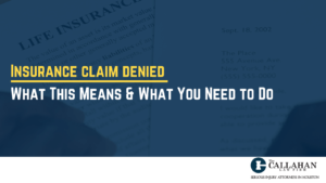 insurance claim denied - what this means & what you need to do