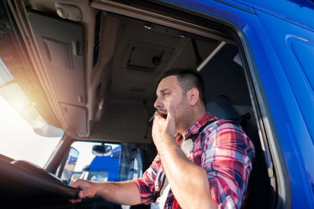 drowsy truck driver